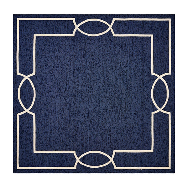 Hampton Madison By Libby Langdon Hooked Square Rug