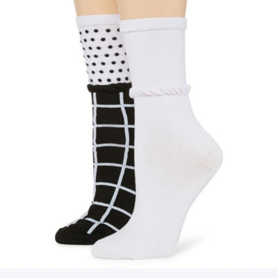 Mixit 2 Pair Slouch Crew Socks - Womens