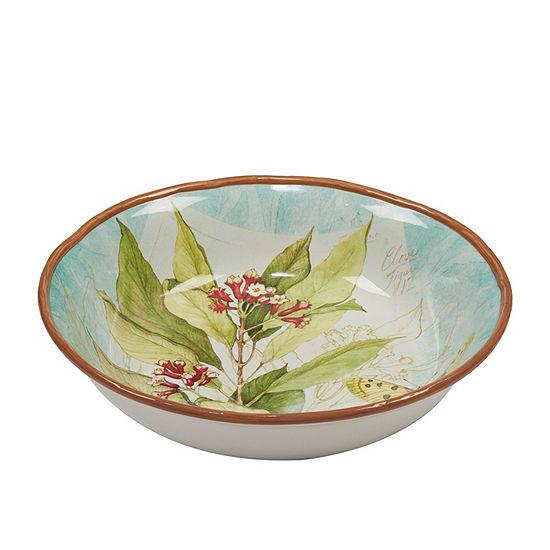 Certified International Herb Blossoms Serving Bowl
