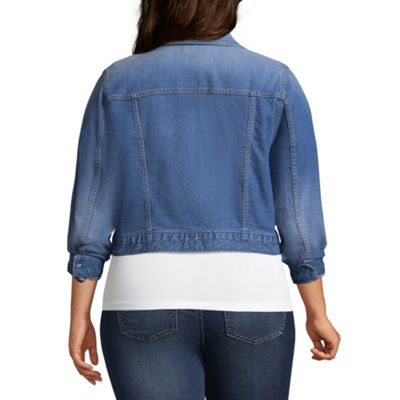 Arizona Lightweight Denim Jacket-Juniors Plus