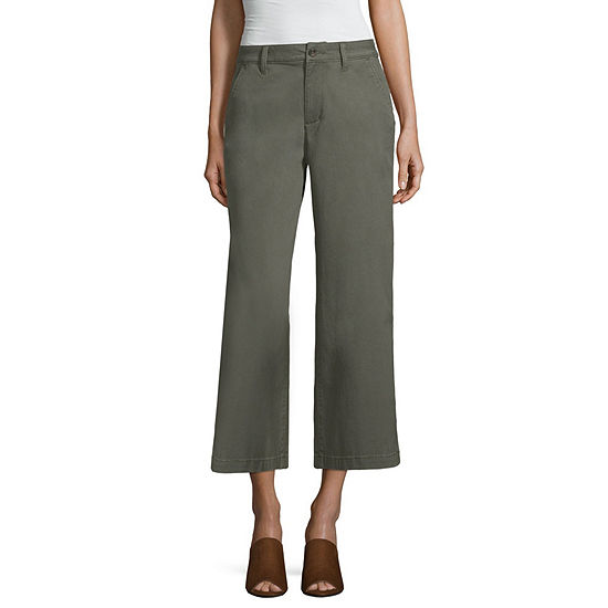 055b1afd825 a.n.a Ana Chino Pant Womens Wide Leg Flat Front Pant - JCPenney