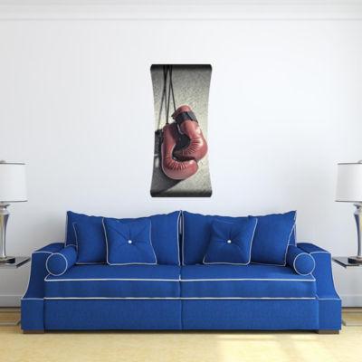 Metal Wall Art Home Decor Boxing Gloves 48x19 HD Curve