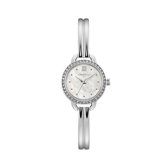 Caravelle Designed By Bulova Womens Silver Tone Stainless Steel Bracelet Watch-43l213