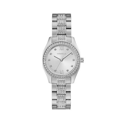 Caravelle Womens Silver Tone Bracelet Watch-43l212