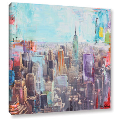 Vibrant Skyline Gallery Wrapped Canvas