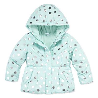 Okie Dokie Heavyweight Dots Puffer Jacket - Toddler Girls