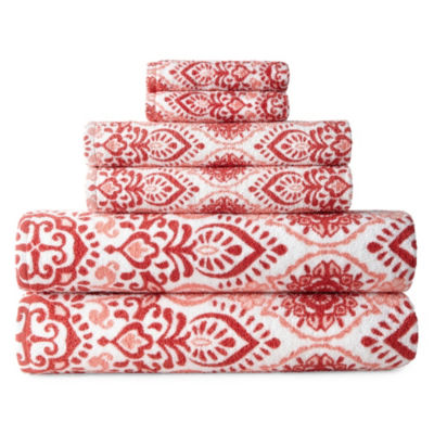 JCPenney Home Henna 6-pc. Bath Towel Set