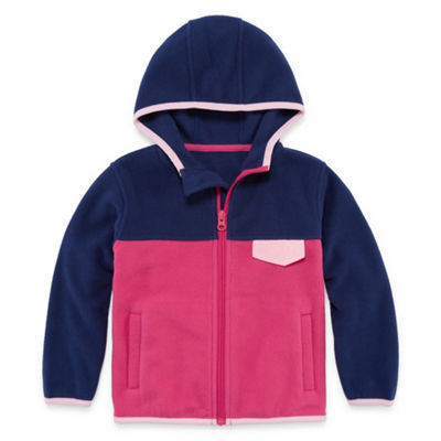 Okie Dokie Polar Fleece Lightweight Jacket-Toddler Girls