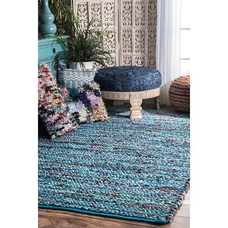 nuLoom Slaton Braided Braided Area Rug, One Size , Blue