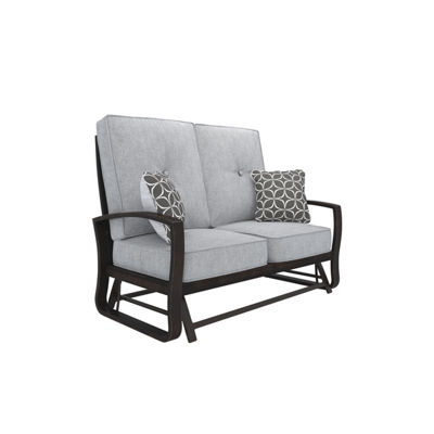 Outdoor by Ashley® Castle Island Patio Loveseat Glider with Cushion