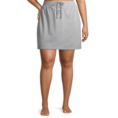 Flirtitude Womens Mid Rise Short Full Skirt-Juniors Plus