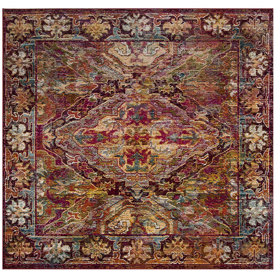 Safavieh Crystal Collection Moira Oriental Square Area Rug