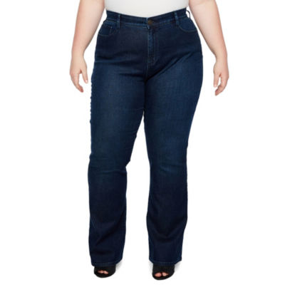 Boutique + Curvy Fit Slim Bootcut Jeans - Plus