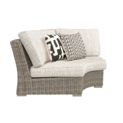 Outdoor by Ashley® Beachcroft Curved Corner Patio Chair with Cushion