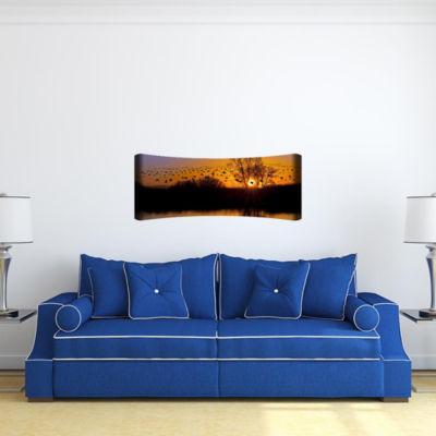 Metal Wall Art Home Decor Flocking 48x19 HD Curve