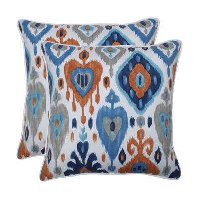 Pillow Perfect Paso Azure Set of 2 18.5-Inch Outdoor Throw Pillows