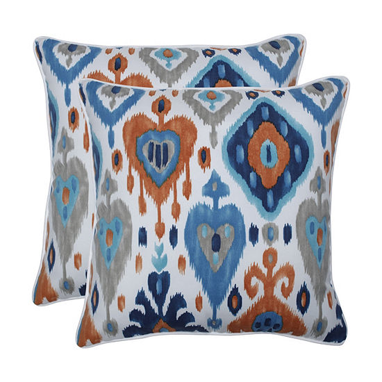 Pillow Perfect Paso Azure Set of 2 18.5-Inch Outdoor Throw Pillows