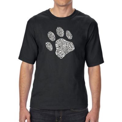 Los Angeles Pop Art Boy's Raglan Baseball Word Art T-shirt - Woof Paw Prints