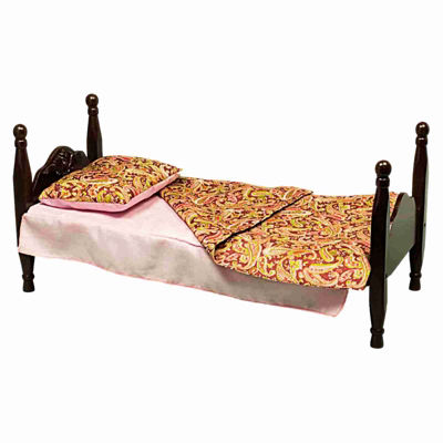 The Queen's Treasures Single Stackable 18 Inch Doll Bed/Bedding