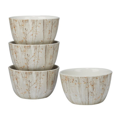 Certified International Woodland Walk 4-pc. Ice Cream Bowl