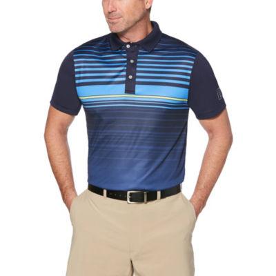 PGA TOUR Easy Care Short Sleeve Stripe Polo Shirt