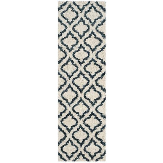 Safavieh Hudson Shag Collection Toireasa Geometric Runner Rug