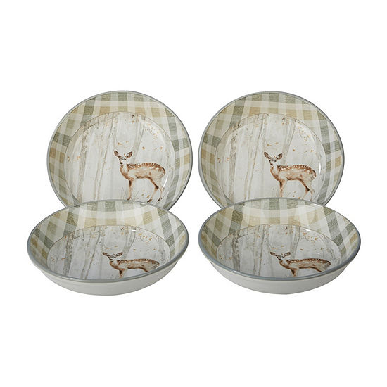 Certified International Woodland Walk 4 Pc Soup Bowl