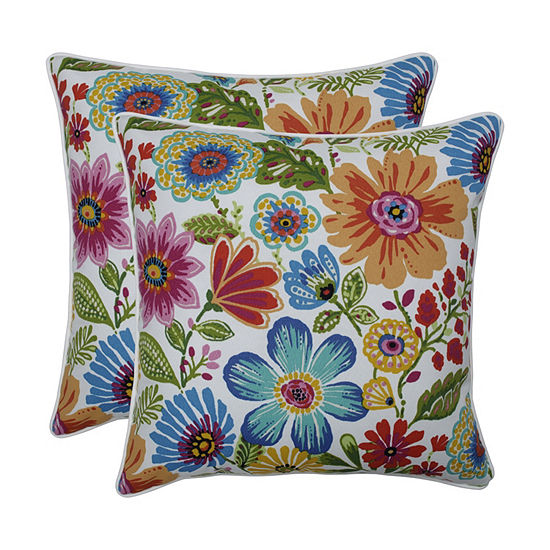 Pillow Perfect Gregoire Prima Set of 2 18.5-Inch Outdoor Throw Pillows