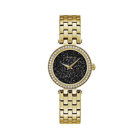 Caravelle Designed By Bulova Womens Gold Tone Stainless Steel Bracelet Watch-44l243