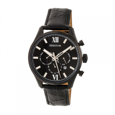 Heritor Unisex Black Strap Watch-Herhr6805