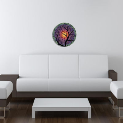 "Metal Wall Art Decor Moonlight 24"" Round"""