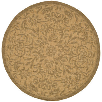 Safavieh Courtyard Collection Eleanor Oriental Indoor/Outdoor Round Area Rug