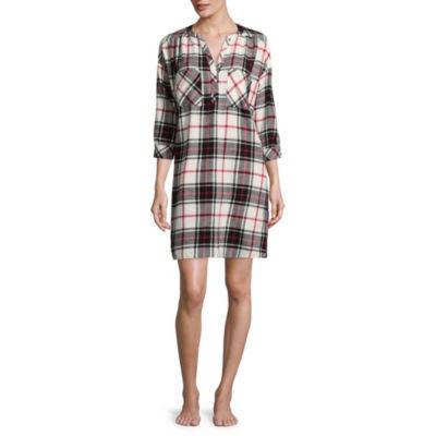 Liz Claiborne Boxy Flannel Nightshirt