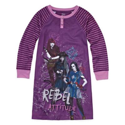 Disney Long Sleeve Descendants Nightshirt-Big Kid Girls