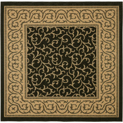 Safavieh Courtyard Collection Kiana Oriental Indoor/Outdoor Square Area Rug