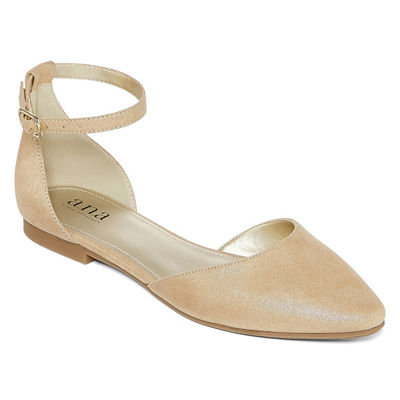 a.n.a Womens Darrell Ballet Flats Strap Closed Toe