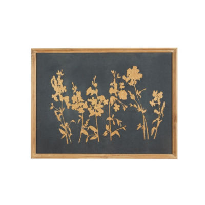 Madison Park Signature Kyoto Silver Leaf Garden Wall Decor