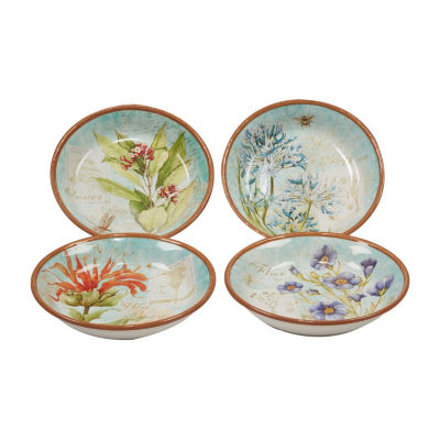 Certified International Herb Blossoms 4-pc. Soup Bowl
