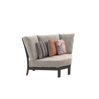Outdoor by Ashley® Cordova Reef Curved Corner Patio Chair with Cushion
