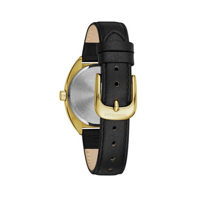 Caravelle Womens Black Bracelet Watch-44l249