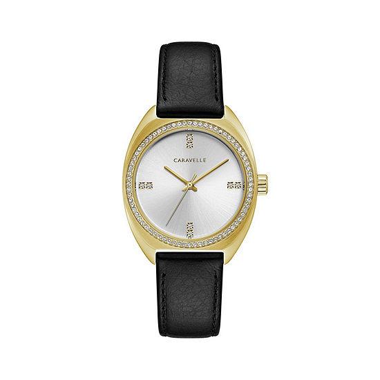 Caravelle Womens Black Bracelet Watch-44l249