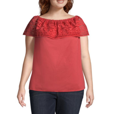 St. John's Bay®Embroidered Convertible Eyelet - Plus