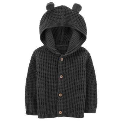 Carter's Little Baby Basics Long Sleeve Hooded Neck Cardigan Boys