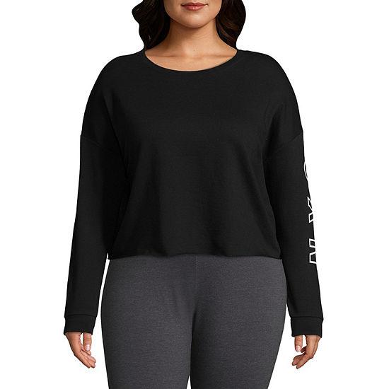 Flirtitude Womens Round Neck Long Sleeve Sweatshirt Juniors Plus
