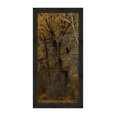 Where Eagles Fly Crop Framed Canvas Art