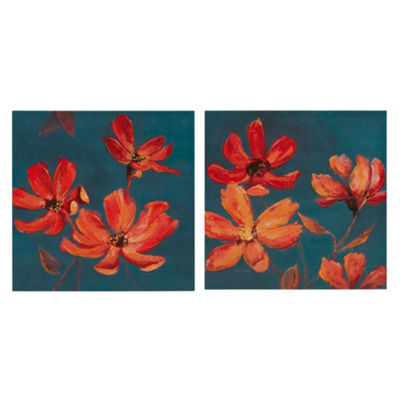 Madison Park Magnolia Hand Embellished Canvas 2-pc. Set