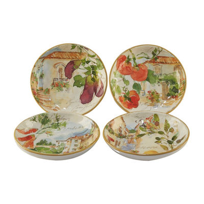 Certified International Piazzette 4-pc. Soup Bowl