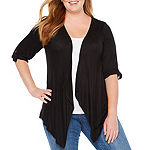 Alyx Womens 3/4 Sleeve Open Front Cardigan-Plus