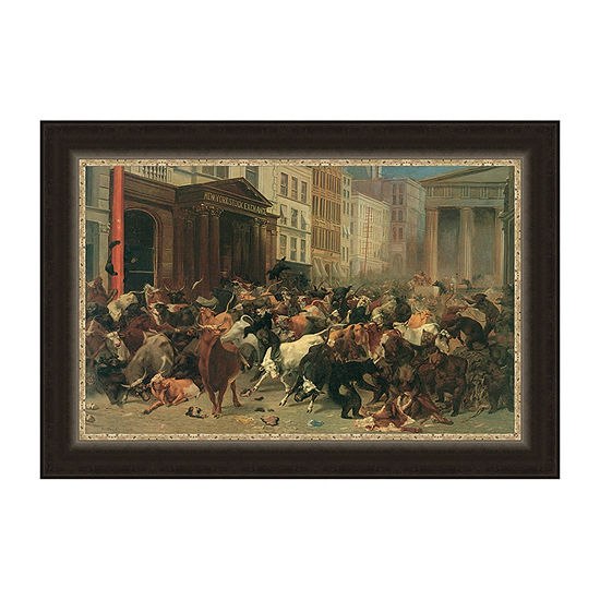 The Bulls And Bears In The Market Framed Print