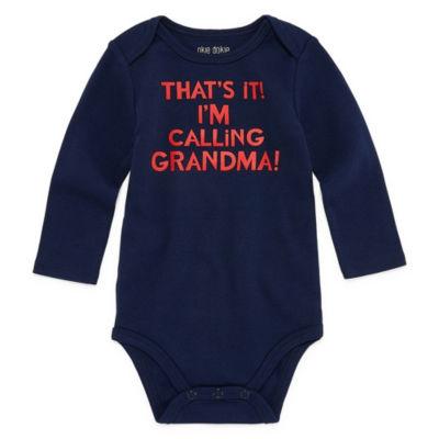 "Okie Dokie ""That's It! I'm Calling Grandma!"" Long Sleeve Slogan Bodysuit - Baby NB-24M"